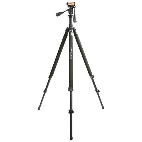 Dörr 372755 Pro Black 3XL Foto-Video Stativ inkl. 3D-Neiger mit integrierter Wasserwaage/Schnellwechselplatte/Stativtasche
