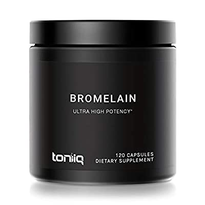 Ultra High Strength Non-GMO Bromelain Capsules - 3600 GDU/Gram - The Strongest Bromelain Available - 500mg Formula - 120 Veggie Capsules