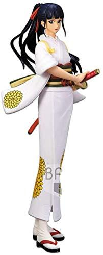 MNZBZ O-Kiku Figur Weiß Kimono One Piece Stampede Glitter & Glamours Handmade Model Cartoon Geschenk Spielzeug Dekorationen aus One Piece Peripheriegeräte Freizeitkunst Puppe Ornamente