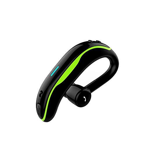 SLuB Auricular Bluetooth Manos Libres Manos Libres Auricular con micrófono Auricular Impermeable V4.1 Auriculares para Auto para la Oficina Manejo del (Verde)