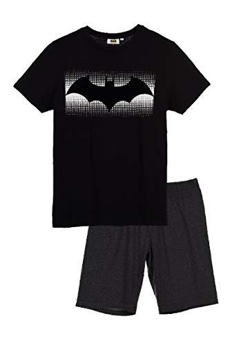 Suncity Pijama Verano Adulto Batman Talla M Negro