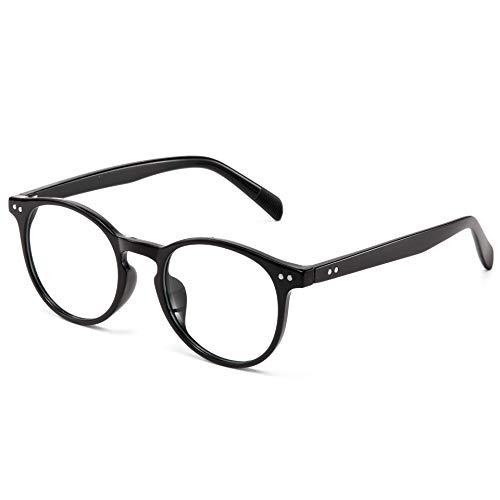 Effnny Bloqueo de luz azul Gafas anti fatiga filtro UV juegos de computadora monturas de gafas Para hombres mujeres (2301/Negro)