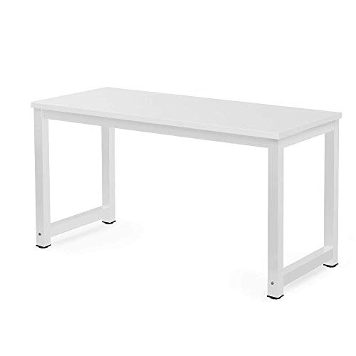Millhouse Computer Desk Office Study Desk Computer PC Laptop Table Workstation Dining Gaming Table for Home Office (White-1)