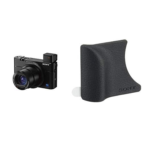 Sony RX100 VCámara Compacta Premium Avanzada (Sensor Tipo 1.0, Objetivo Zeiss 24-70 mm F1.8-2.8, Grabación vídeo 4K y Pantalla abatible) + AGR2B.SYHGrip para DSC Series RX (Negro)
