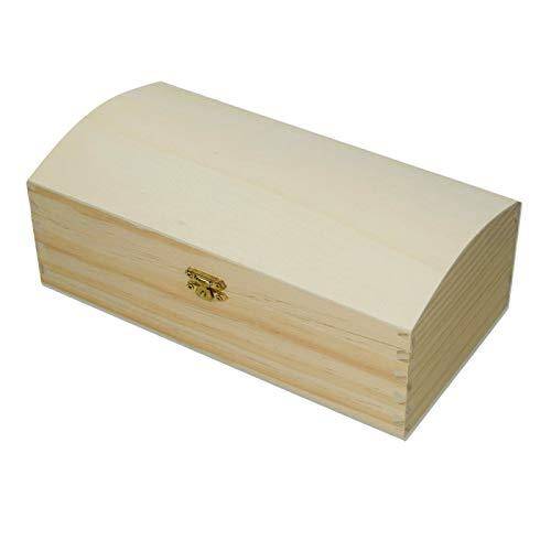 Efco houten kist van grenenhout met sluiting, 25 x 13 x 9,5 cm