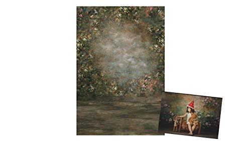WaW Vintage Fotostudio Hintergrund Stoff Blume 1.5x2.2m Abstrakt Malerei Fotoshooting leinwand Hintergrund Baby Kinder Mädchen Portrait
