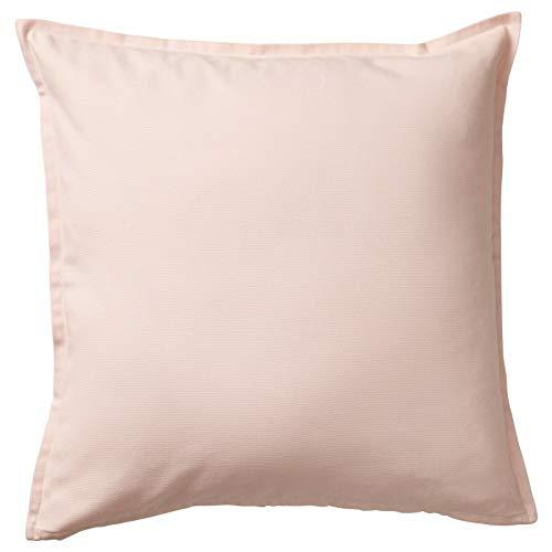 IKEA GURLI - Funda de cojín (100% algodón, cierre cuadrado, 50 x 50 cm, 1 unidad), color rosa claro