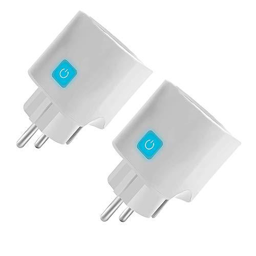 KEXG Enchufe Inteligente WiFi Compatible con Alexa, Asistente de Google, IFTTT, Salida Inteligente Ewelink con Control de Voz y función de Temporizador, no se Requiere concentrador