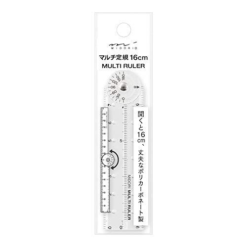 デザインフィル マルチ定規16cm 透明 42263006 5個