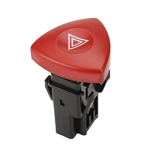 BotóN De Interruptor De Coche Interruptor de Emergencia de Emergencia Luces de Alarma Botón de Advertencia 8200442723 / Ajuste for Renault Clio II 19M20 (Color : Red RD)