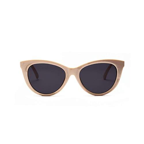LAMZH Gafas de Sol de Estilo Retro de Estilo de Gato de Moda de Gafas de Sol de Gafas de Sol. UV Protección para Accesorios de Viaje de Viaje al Aire Libre. (Color : Beige)