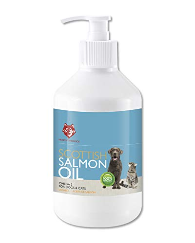 Healthy Hounds Scottish Salmon Oil For Dogs, Cats, Ferrets, Pets 500ml -100% Pure Premium Food Grade - Natural Omega 3 6 9 Coat Skin Joint Supplement