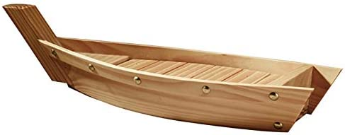 HAOZHAO 1Pc Wooden New York Mall Sushi Plate Boat Japanese Shaped Very popular! S Style Dish