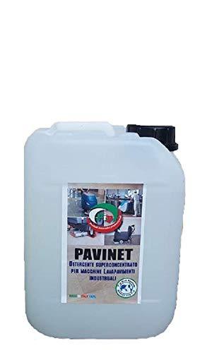Pip Pavinet TK. UN KG.4,7 Detergente superconcetrato per macchine lavapavimenti, pari da 470 a 2.350 LT di prodotto pronto all'uso.