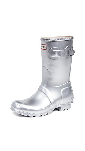 HUNTER Damen Wellington Boots Gummistiefel, Silber (Silver SIL), 39 EU