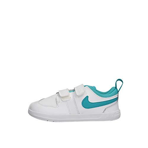 Nike Pico 5, Scarpe da Tennis Unisex-Bambini, Multicolore (White/Teal Nebula 101), 27 EU