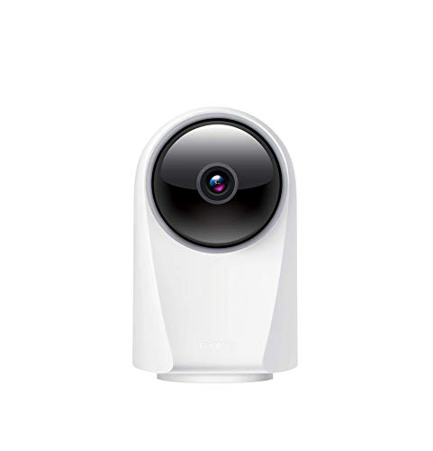 realme 360 Deg 1080p Full HD WiFi Smart Security Camera (White) | Alexa Enabled | 2-Way Audio | Night Vision | Motion Tracking & Intruder Alert, 7.1cm x 6.58cm x 11.43cm (RMH2001)