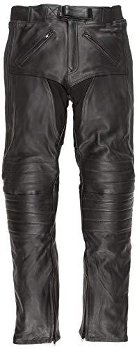 Bikers Gear Australia Pantalon moto en cuir souple de qualité supérieure pour hommes,LT1004, Noir, EU(46) UK(XL)