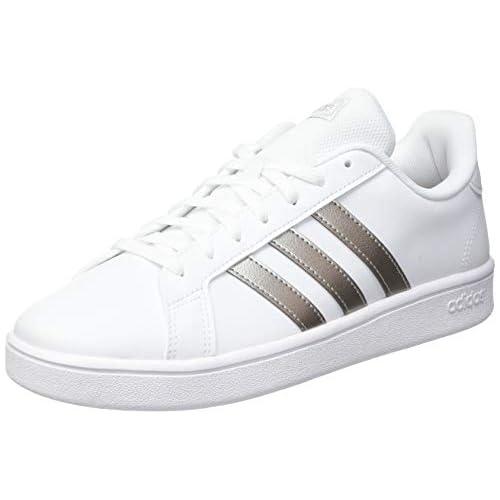 Adidas Grand Court Base, Sneaker Donna, Ftwbla Metpla Ftwbla, 39 1/3 EU