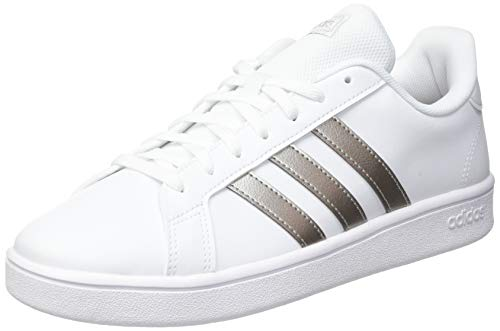 adidas Grand Court Base, Sneakers Donna, Ftwbla/Metpla/Ftwbla, 38 EU