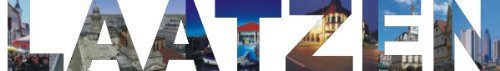 INDIGOS UG - Wandtattoo Wandsticker Wandaufkleber - Aufkleber farbige Wandschrift Städtename Städtename Laatzen mit Sehenswürdigkeiten 80 x 12 cm Länge