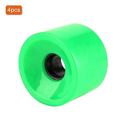 Alomejor 4 unids Ruedas de Skate 70 * 51mm Rodamientos Rodamiento de Rodillos para Tablas de Skate(Green)