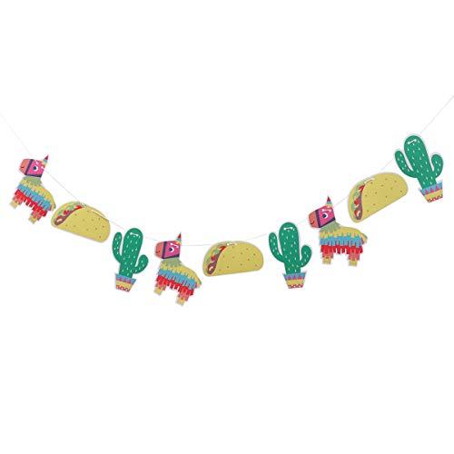 Banner Amosfun com tema de pinata e guirlanda de alpaca para decoração de festa de aniversário