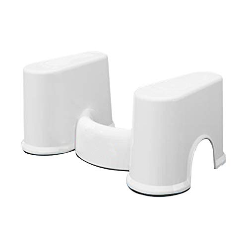 Bathroom Aid Squatty Step Foot Stool,for Potty Help Prevent Constipation Faster Bowel Movements Plastic Non-Slip Toilet Stool