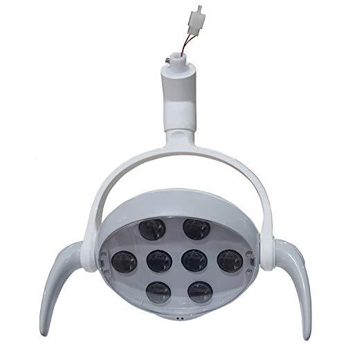 Luz de sensor infrarrojo de luz de examen oral LED dental, lámpara dental sin sombras para silla, lámpara quirúrgica con 8 luces LED, lámpara sin sombras con sensor de techo para silla de unidad