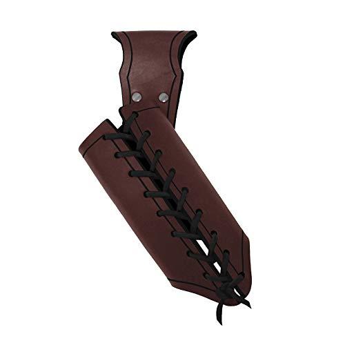 Andracor - Schwerthalter für Rechtshänder - aus Rüstleder mit Variabler Zierschnürung für unterschiedliche Waffengrößen