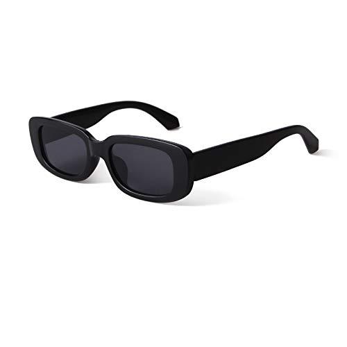 GIFIORE Rechteckige Sonnenbrille, Vintage Retro Sonnenbrille für Damen Herren UV400 Schutz