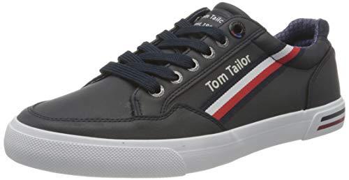 TOM TAILOR Herren 1183207 Sneaker, Navy, 43 EU