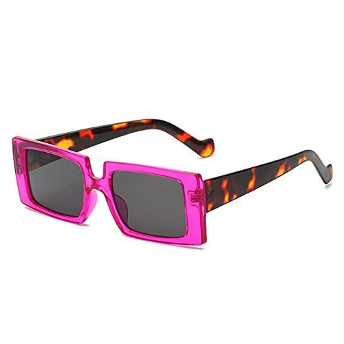 LUOXUEFEI Gafas De Sol Gafas De Sol Mujer CuadradasNegras Montura Grande Anteojos Hombre Accesorios Verano