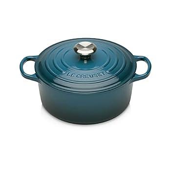 Le Creuset Enameled Cast Iron Signature Round Dutch Oven 4.5 qt Deep Teal