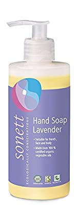 Sonett Organic Hand Soap Citrus, Lavender, Sensitive, Calendula, Rose and Foam Soap, 1 Count and 6 Count (Lavender, 1 Count)