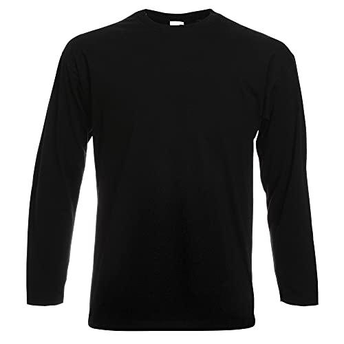 Fruit of the Loom - T-Shirt à manches longues - Homme noir noir L