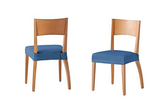 Martina Home Tunez - Funda para Silla, Tela, Funda silla asiento, Azafata, 24 x 30 x 6 cm, 2 Unidades