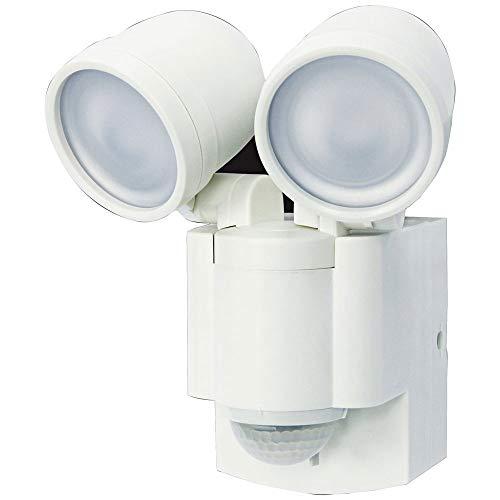 IQ America Battery Powered Motion Sensor Twin LED Home Security Spot Flood Light