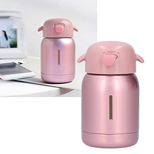 01 Ventosa, Botella de Agua de Acero Inoxidable con Efecto Antideslizante Buen Efecto de conservación del Calor para niños para la Escuela para el hogar(Pink)