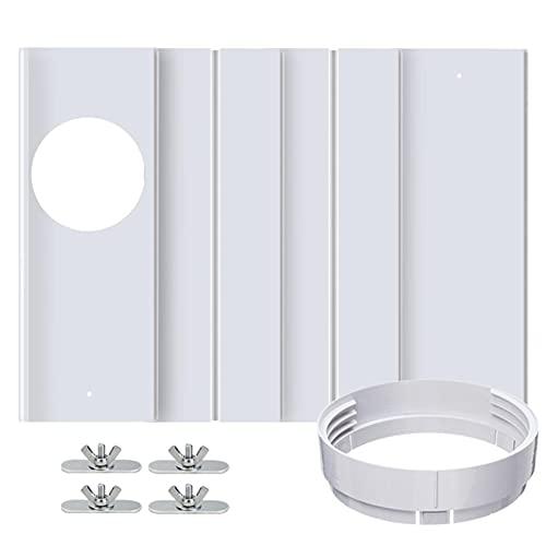 libelyef Equipo del sello de la ventana del aire acondicionado, placa del sello de la ventana de la diapositiva del ajuste de la longitud y interfaz