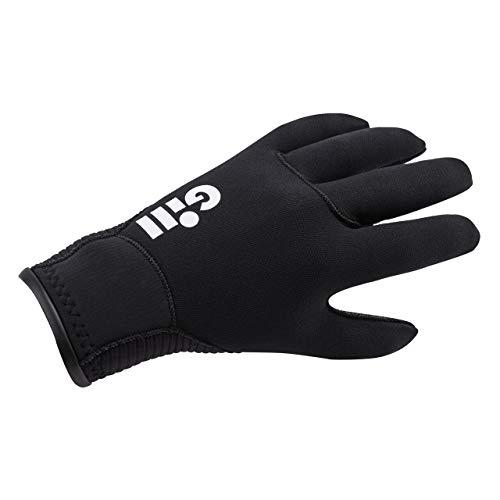 Gill 3MM Neopren Neoprenanzug Winterhandschuhe in Schwarz - Erwachsene Unisex - Mit Flüssigkeit verschweißte Nähte, die gegen das Eindringen von Wasser geschützt sind