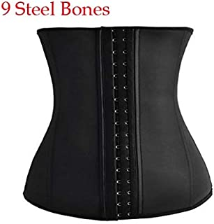 Corsets Latex Waist Trainer 25 Steel Bone Women Binders And Shapers Corset Modeling Strap Body Shaper Colombian Girdles Slimming Belt Fat Burner (Color : 6998, Size : 6XL)