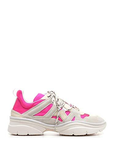 Isabel Marant Luxury Fashion Damen BK005220P028S40FA Weiss Samt Sneakers | Ss21