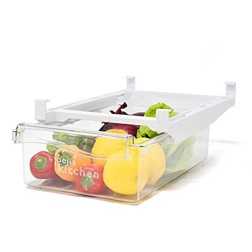 Organizador nevera retráctil, organizador frigorifico de diseño inteligente, congelador cajones de frigorífico con asa para un fácil acceso