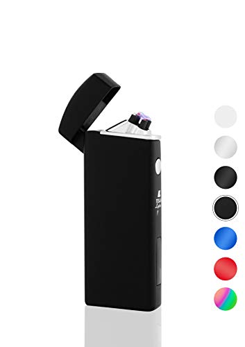 TESLA Lighter T14 - Lichtbogen-Feuerzeug elektronisches Feuerzeug matt schwarz