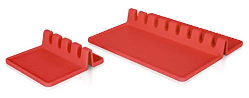 Tomorrow's Kitchen 4670150 XL Red Utensil Rest Set of 2
