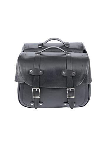Cruizer - Coppia borse da sella posteriori per moto Harley Custom in pelle impermeabili, larghezza 44 cm, altezza 32 cm, capienza 27 litri