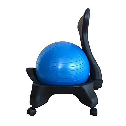 Fitnessballstuhl Massagestuhl Yogaballstuhl Büro Home Seat Explosionsgeschützter Verdickter Sockel Ergonomischer Stuhl (blau) (Color : Blue, Size : 52 * 79cm)