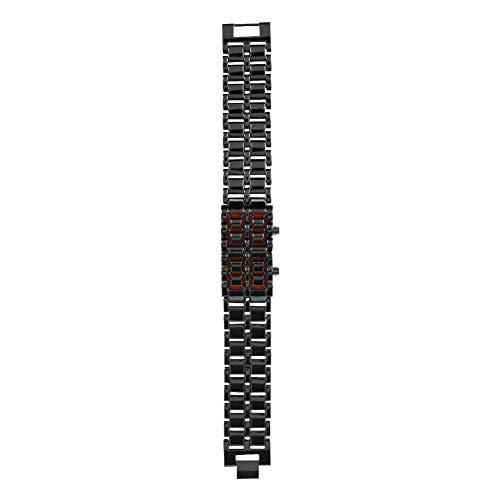 SUYANG Reloj De Pulsera Led Reloj De Pulsera Led Reloj De Pulsera Electrónico Banda De Acero De Moda Pareja Reloj Led Luz De Pulsera Electrónica (# 2)