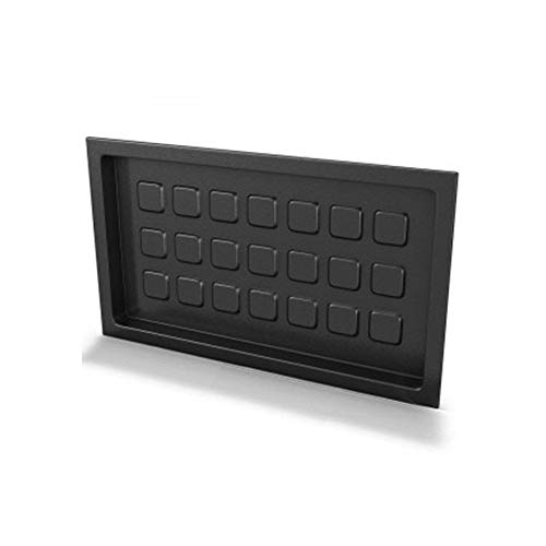 Crawl Space Recessed Foundation Vent Cover - Black (For 8'x16' Foundation Openings)